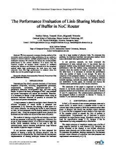 The Performance Evaluation of Link-Sharing Method of ... - IEEE Xplore