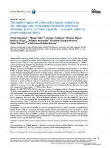 The performance of community health workers in the management of ...
