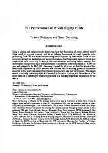 The Performance of Private Equity Funds - HEC Paris