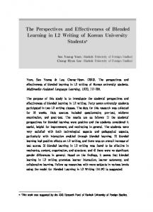 The Perspectives and Effectiveness of Blended Learning in L2 Writing ...