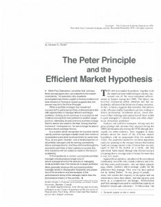 The Peter Principle Efficient Market Hypothesis
