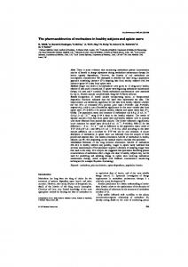 The pharmacokinetics of methadone in healthy subjects ... - Europe PMC