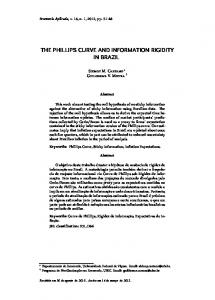 THE PHILLIPS CURVE AND INFORMATION RIGIDITY IN BRAZIL