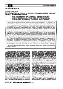 the philosophy of artificial consciousness in the first