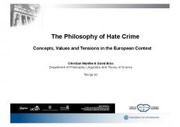 The Philosophy of Hate Crime
