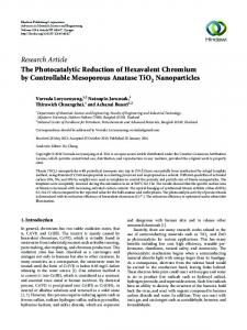 The Photocatalytic Reduction of Hexavalent Chromium by ...
