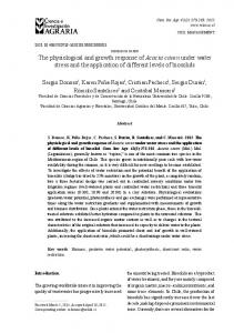 The physiological and growth response of Acacia caven under water ...