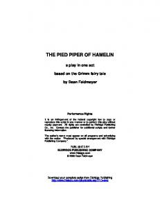 THE PIED PIPER OF HAMELIN - Epc-library.com