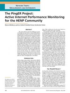 The PingER Project - UC Davis ECE
