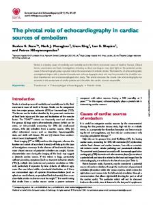 The pivotal role of echocardiography in cardiac