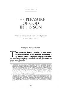 The Pleasure of God in His Son - Desiring God