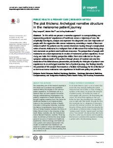 The plot thickens: Archetypal narrative structure in the ... - Cogent OA