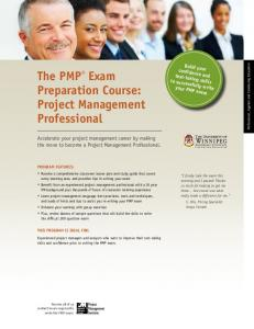 The PMP® Exam Preparation Course: Project Management ...