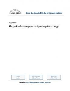 the political consequences of party system change