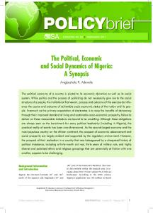The Political, Economic and Social Dynamics of Nigeria