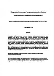 The political economy of compensatory redistribution