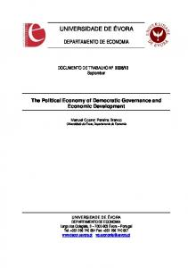 The Political Economy of Democratic Governance and Economic ...