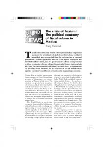 The political economy of fiscal reform in Mexico - CiteSeerX - Penn State