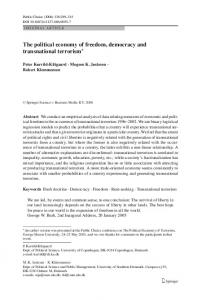 The political economy of freedom, democracy and transnational ...