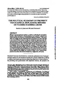 the political economy of property tax in africa ...