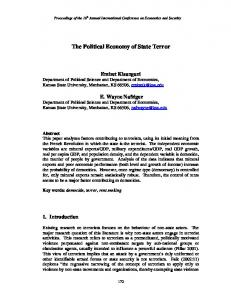 The Political Economy of State Terror - CiteSeerX