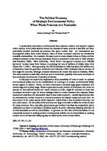 The Political Economy of Strategic Environmental Policy When Waste ...