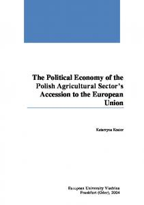 The Political Economy of the Polish Agricultural