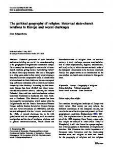 The political geography of religion: historical state ... - Springer Link