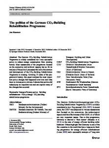 The politics of the German CO2-Building Rehabilitation Programme ...
