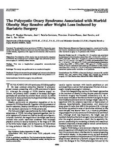 The Polycystic Ovary Syndrome Associated with Morbid Obesity May ...