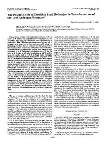 The Possible Role of Disulfide Bond Reduction in Transformation of ...