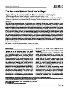 The postnatal role of Sox9 in cartilage - Wiley Online Library