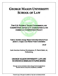The Potential of Competition Advocacy in Latin ... - SSRN papers