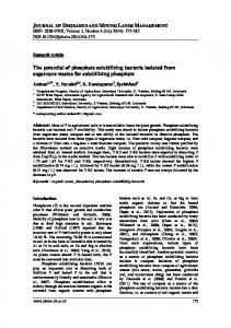 The potential of phosphate solubilizing bacteria isolated from ...