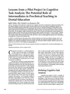 The Potential Role of Intermediates in Preclinical