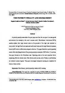 the poverty penalty and microcredit
