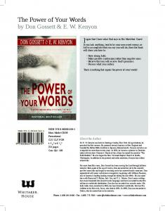 The Power of Your Words - Whitaker House