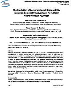The Prediction of Corporate Social Responsibility Impact on ...
