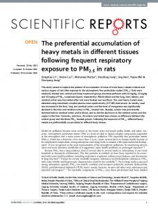 The preferential accumulation of heavy metals in
