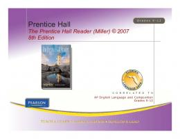 The Prentice Hall Reader (Miller) 8th Edition - Pearson