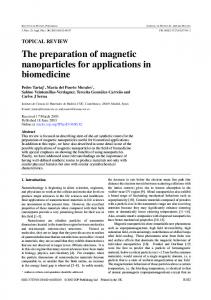 The preparation of magnetic nanoparticles for applications - CiteSeerX