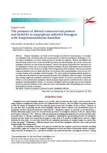 The presence of altered craniocervical posture and mobility in ...