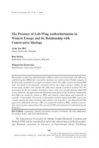 The Presence of Left-Wing Authoritarianism in Western ... - Bart Duriez