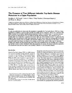 The Presence of Two Different Infantile Tay-Sachs ... - Europe PMC
