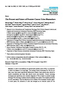 The Present and Future of Prostate Cancer Urine ... - BioMedSearch