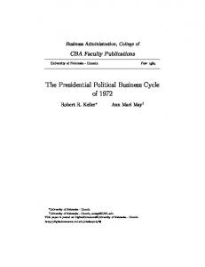The Presidential Political Business Cycle of 1972