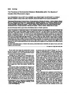 The Prevalence of Antimicrobial-Resistant ... - Semantic Scholar