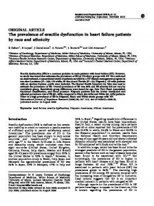 The prevalence of erectile dysfunction in heart failure patients ... - Nature