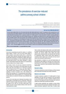 The prevalence of exercise-induced asthma among school children