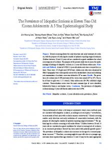 The Prevalence of Idiopathic Scoliosis in Eleven